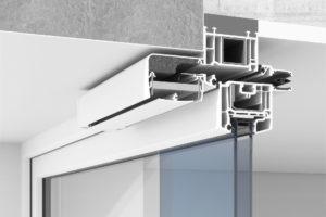 Nawiewnik Okienny (nawietrzak) - Przekroju czerpni Urbino iregulatora Ventair Higroster woknie PVC